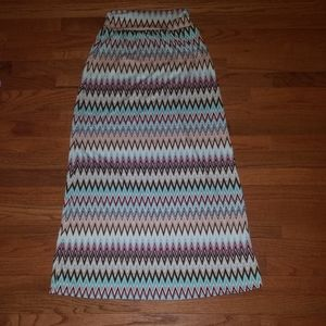 New PaperMoon Zig Zag Maxi Skirt Sz Small